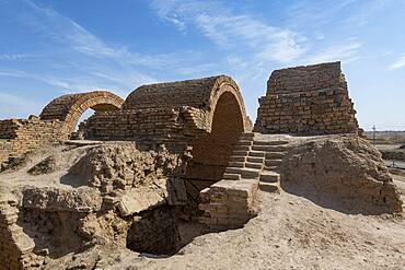 Ancient gate, old Assyrian town of Ashur (Assur), UNESCO World Heritage Site, Iraq, Middle East