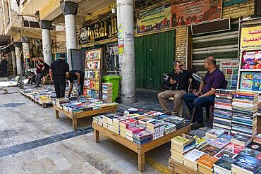 Book market, Baghdad, Iraq, Middle East