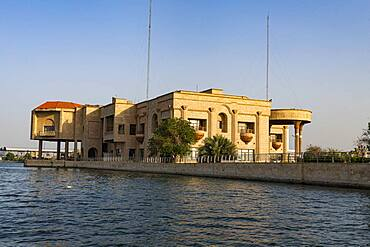 Saddam Hussein's old palace, Arvand Rood, Schatt Al-Arab, Basra, Iraq, Middle East