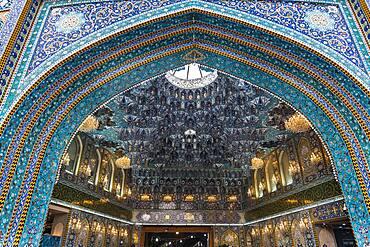 Beautiful tilework, Al-Abbas Holy Shrine, Kerbala, Iraq, Middle East
