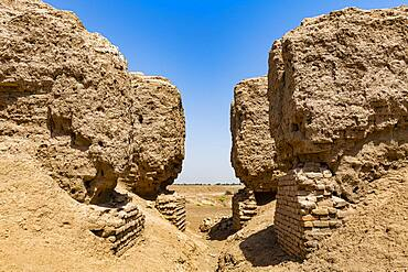 The ruins of the Sumerian town of Kish, Iraq, Middle East - 1184-5757