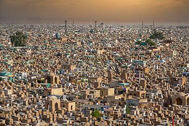 View over Wadi Al-Salam (Valley of Peace) Cemetery, Najaf, Iraq, Middle East - 1184-5764
