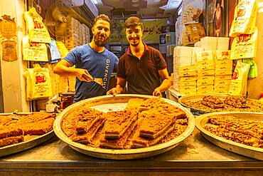 Locals selling sweets, Imam Ali Holy Shrine, Najaf, Iraq, Middle East - 1184-5767