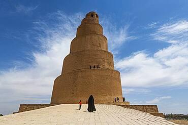 Spiral minaret of the Great Mosque of Samarra, UNESCO World Heritage Site, Samarra, Iraq, Middle East