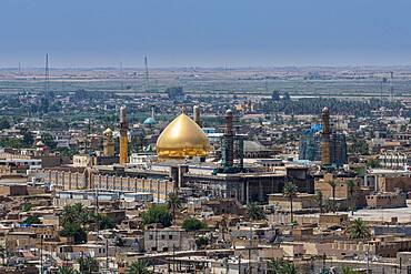 View over Al-Askari Shrine, UNESCO World Heritage Site, Samarra, Iraq, Middle East