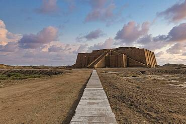 Ziggurat, ancient city of Ur, The Ahwar of Southern Iraq, UNESCO World Heritage Site, Iraq, Middle East - 1184-5779