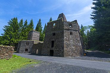 Unesco site Ore Mountain Mining Region, ancient Lime work Kovarska Schmiedeberg, Czech Republic