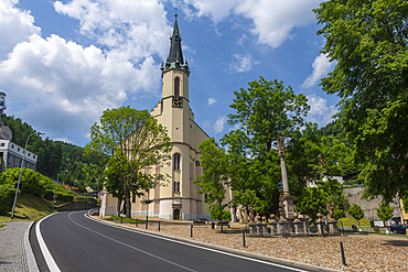 Unesco site Ore Mountain Mining Region; mining town Jachymov, Czech Republic