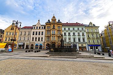Town square, Liberec, Czech Republic