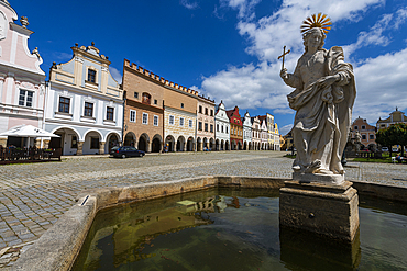 Unesco site historic center of Telc, Czech Republic