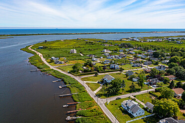 Aerial of Mastic Beach, Long Island, United States of America, North America