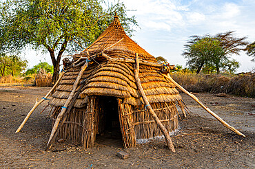 Traditional hut of the Toposa tribe, Eastern Equatoria, South Sudan, Africa