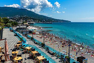 City beach, Yalta, Crimea, Russia
