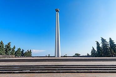 Obelisk Slavy G. Ulyanovsk overlooking the Volga river, Ulyanovsk, Russia