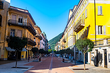 Old town, Unesco site three castles of Bellinzona, Ticino, Switzerland