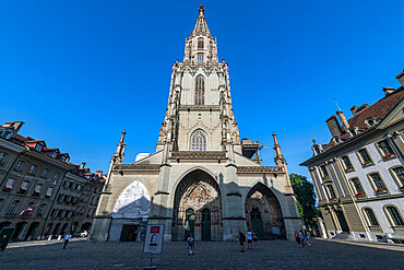 Cathedral, old city of Berne, UNESCO World Heritage Site, Switzerland, Europe