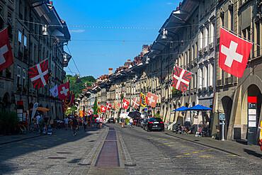 Gerechtigkeitsgasse in the old city of Berne, UNESCO World Heritage Site, Switzerland, Europe