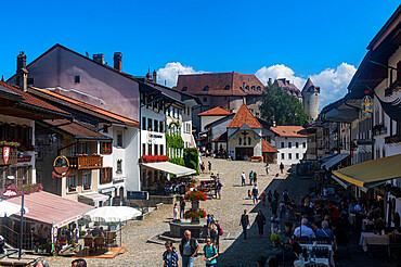 Medieval town in the Gruyere castle, Fribourg, Switzerland