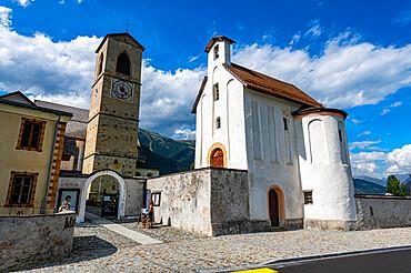 Benedictine Convent of St. John in Mustair on the Swiss alps, Unesco world heritage, Switzerland