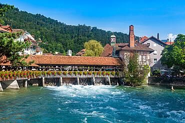 Untere Schleuse bridge over the Aare, Thun, Switzerland