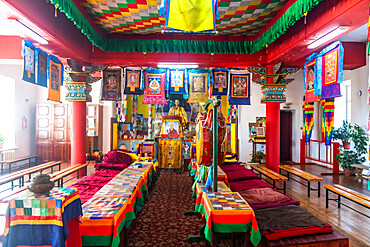 Interior of the Chita Buddhist Temple, Chita, Zabaykalsky Krai, Russia
