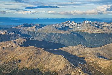 Aerial of Tierra del Fuego, Argentina, South America