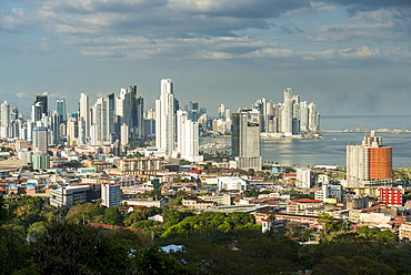 View over Panama City from El Ancon, Panama, Central America