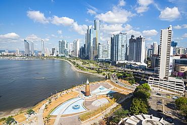 The skyline of Panama City, Panama, Central America