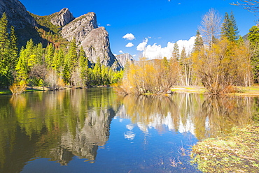 Three Brothers, Yosemite National Park, UNESCO World Heritage Site, California, United States of America, North America