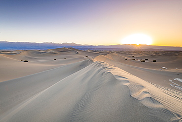 Mesquite flat sand dunes in Death Valley National Park, California, United States of America, North America
