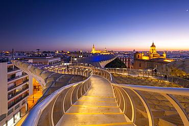 Spiral walkways of the Metropol Parasol, Plaza de la Encarnacion, Seville, Andalusia, Spain, Europe