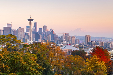 View of the Space Needle from Kerry Park, Seattle, Washington State, United States of America, North America