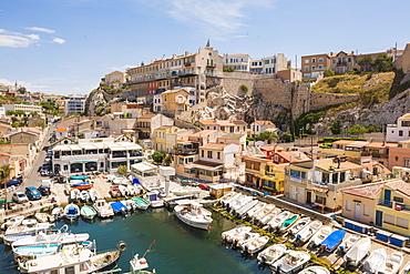 Port Du Vallon Des Auffes, Marseille, Bouches du Rhone, Provence, Provence-Alpes-Cote d'Azur, France, Mediterranean, Europe