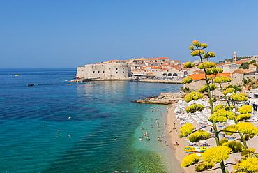 Banya Beach, Dubrovnik, Croatia, Europe
