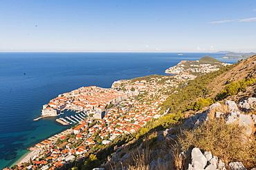 Aerial view of Dubrovnik, Croatia, Europe