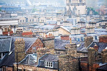 Oxford rooftops, Oxford, Oxfordshire, England, United Kingdom, Europe
