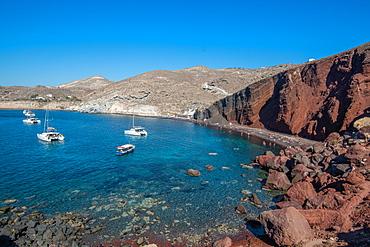 Red Beach, Santorini, Cyclades, Aegean Islands, Greek Islands, Greece, Europe