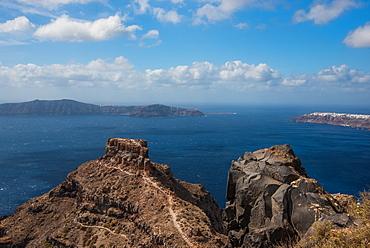 View of Caldera in Santorini, Cyclades, Aegean Islands, Greek Islands, Greece, Europe