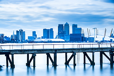 Canary Wharf from London Docklands, London, England, United Kingdom, Europe