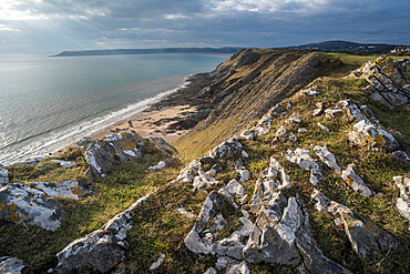 West Cliff, Gower Peninsula, South Wales, United Kingdom, Europe
