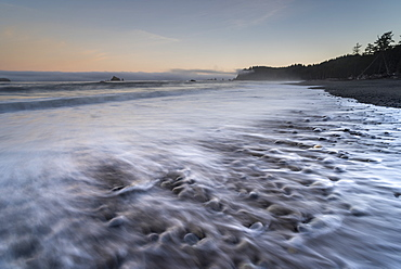 Rialto Beach at dawn, Olympic National Park, UNESCO World Heritage Site, Clallam, Washington State, United States of America, North America