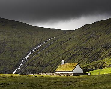 Saksunar Kirkja Church, Saksun, Faroe Islands, Denmark, Atlantic, Europe