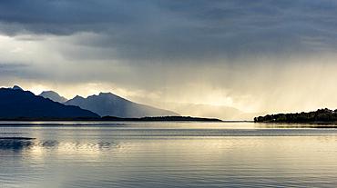 Mountains and rain clouds, Senja, Norway, Scandinavia, Europe