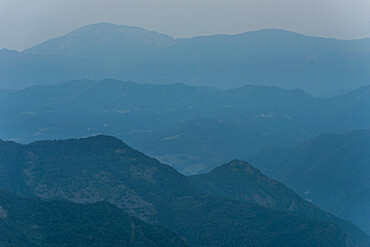 Marche Mountains, at dusk, Italy, Europe