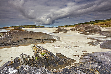 The Strand at Derrynane House, Ring of Kerry, County Kerry, Munster, Republic of Ireland, Europe