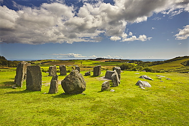 Drombeg stone circle, near Clonakilty, County Cork, Munster, Republic of Ireland, Europe