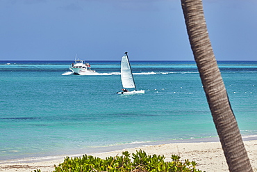 The beach in front of the Sibonne Hotel, Grace Bay, Providenciales, Turks and Caicos, in the Caribbean, West Indies, Central America