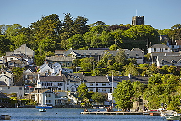 A quintessential Devon riverside village of Newton Ferrers, on the River Yealm, near Plymouth, on Devon's south coast, Devon, England, United Kingdom, Europe