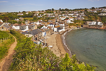 The little harbour-cum-beach village of Gorran Haven, near St. Austell, on the south coast of Cornwall, England, United Kingdom, Europe