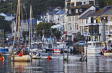 The well-known fishing harbour at Looe, in early morning sunlight, on Cornwall's south coast, Looe, Cornwall, England, United Kingdom, Europe